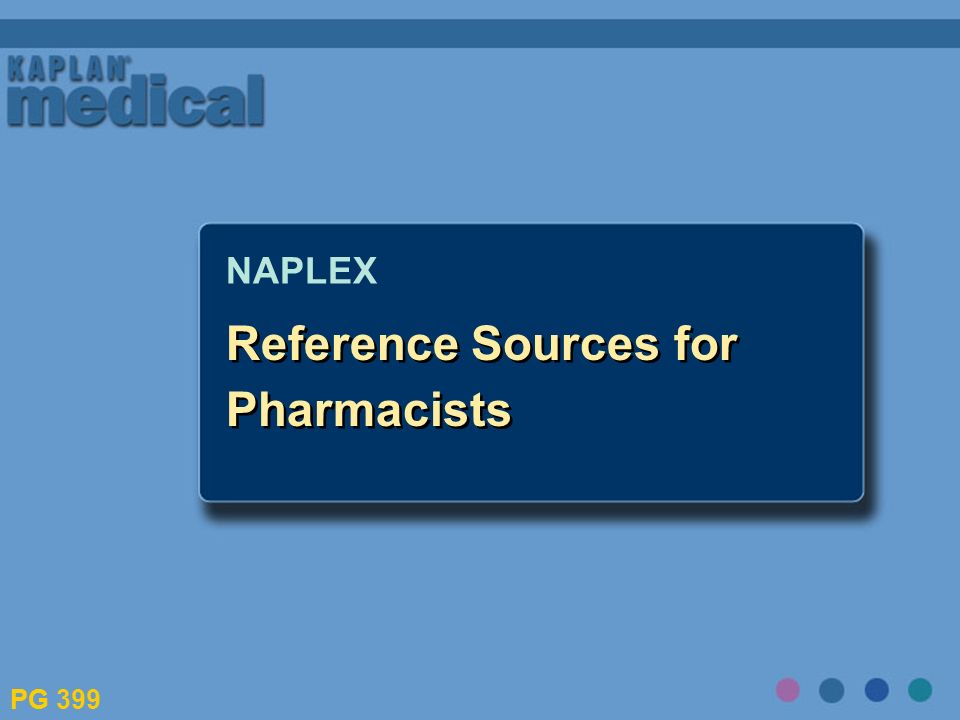Reference Sources for Pharmacists