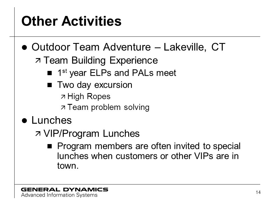 Other Activities Outdoor Team Adventure – Lakeville, CT Lunches