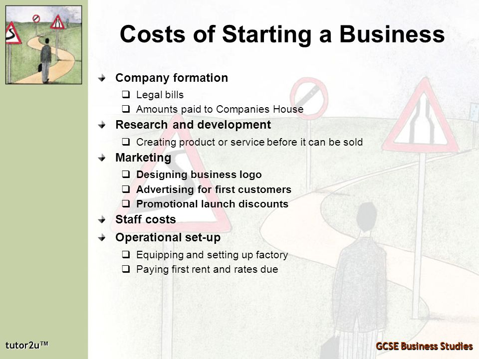 Costs of Starting a Business