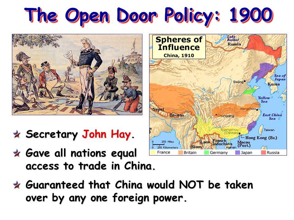 open door policy john hay. The Open Door Policy: 1900 Secretary John Hay. Open Door Policy John Hay