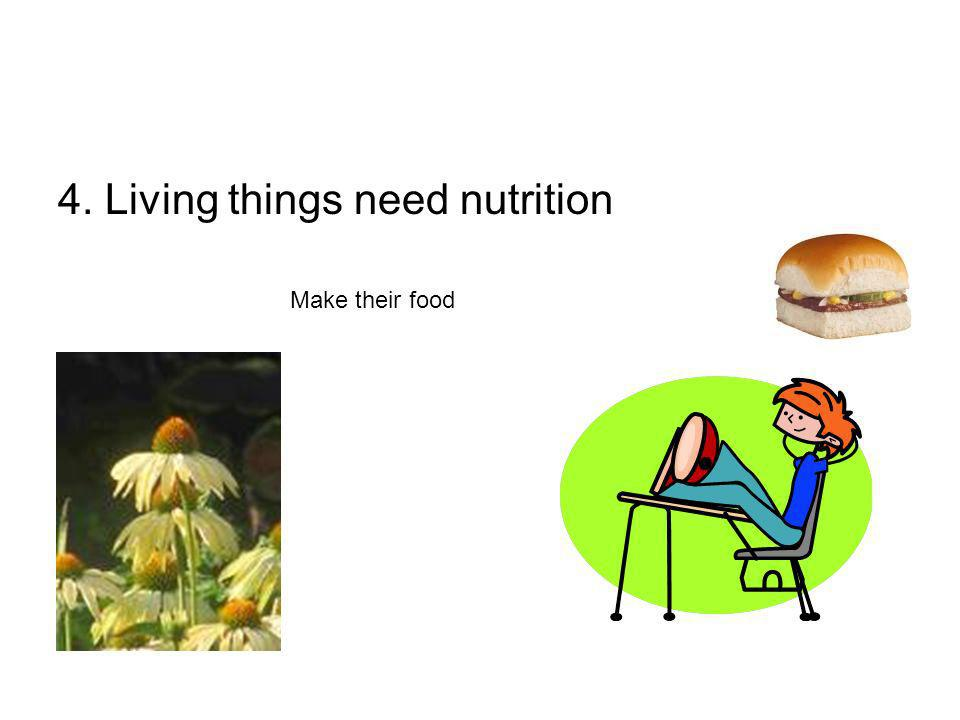 4. Living things need nutrition