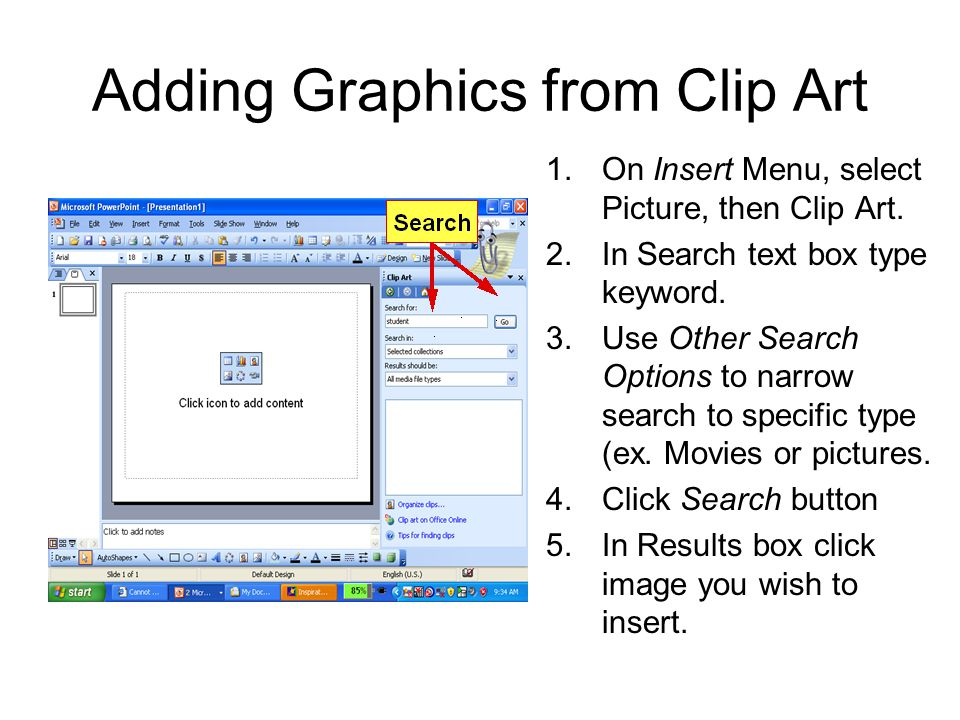 Adding Graphics from Clip Art