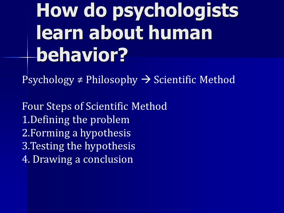 How do psychologists learn about human behavior