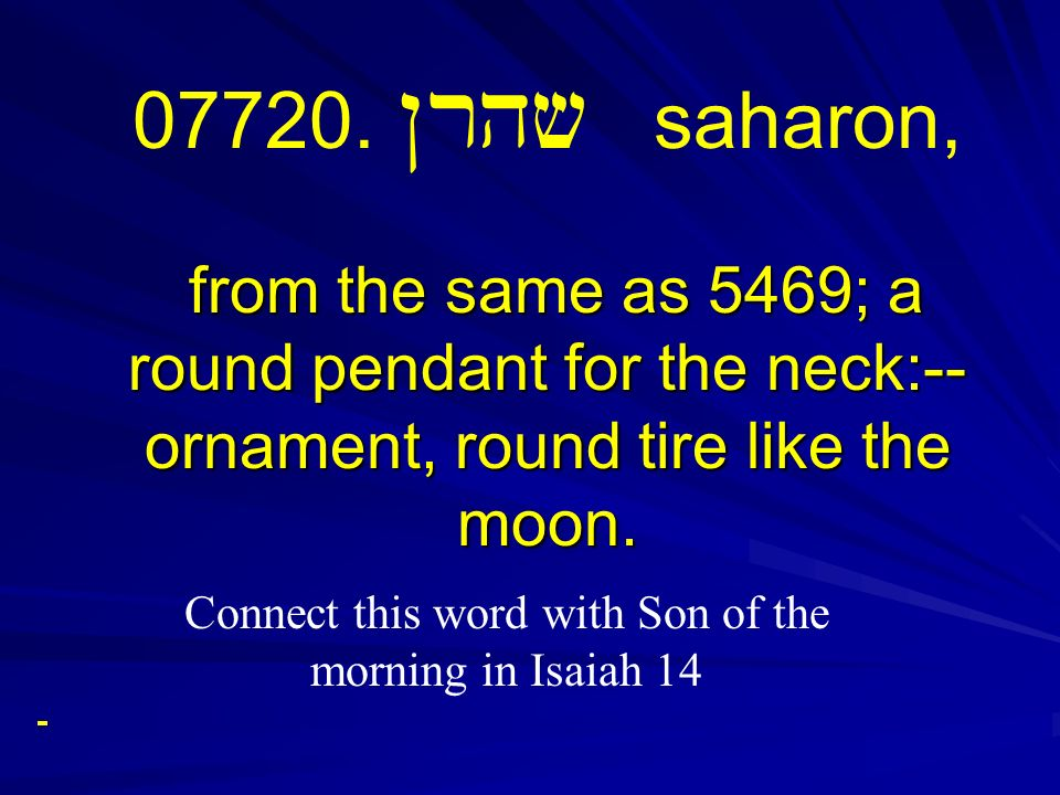 Connect this word with Son of the morning in Isaiah 14