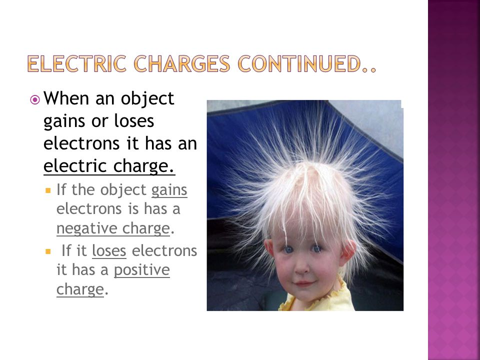 Electric charges continued..