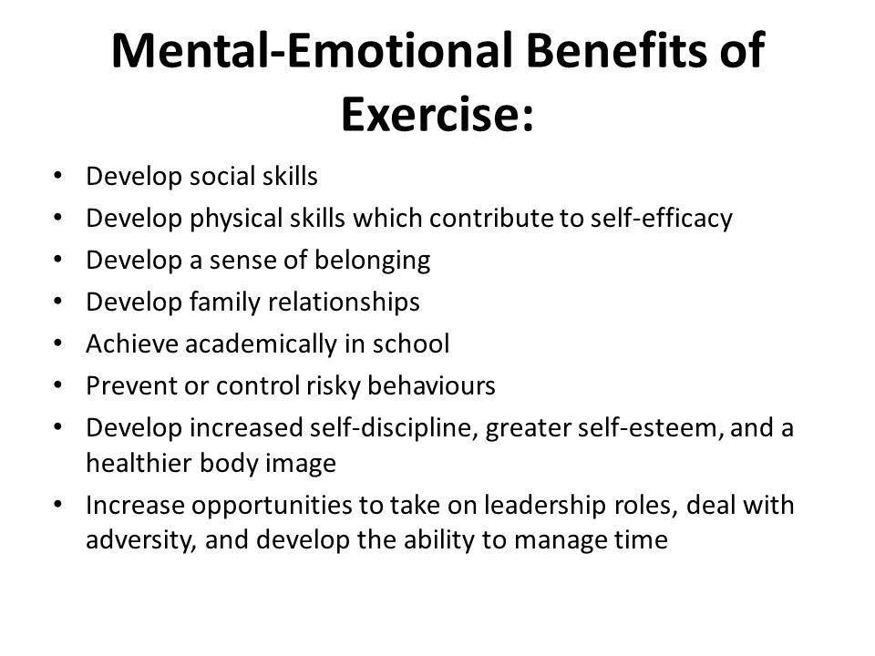 Mental-Emotional Benefits of Exercise: