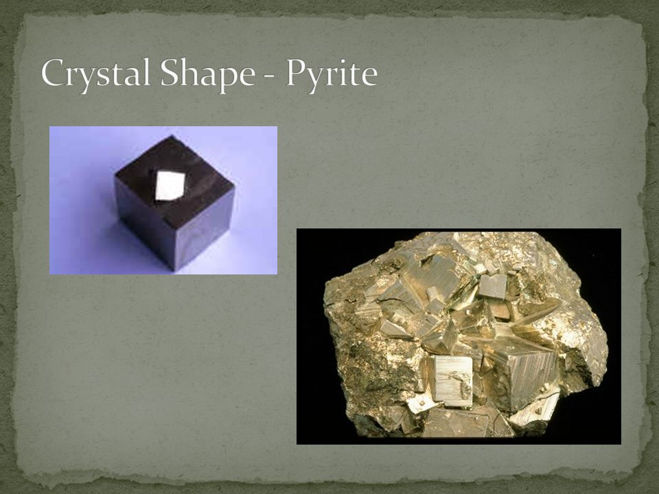 Crystal Shape - Pyrite
