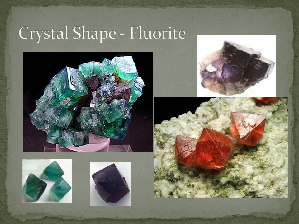 Crystal Shape - Fluorite