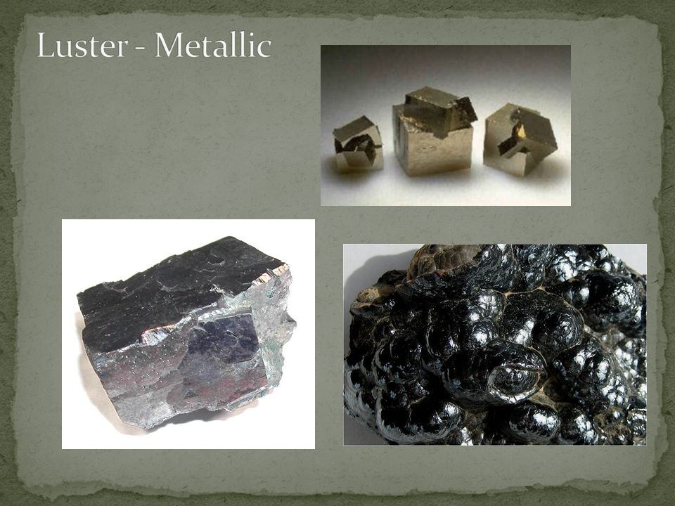 Luster - Metallic Cube – pyrite Bubbled - hematite