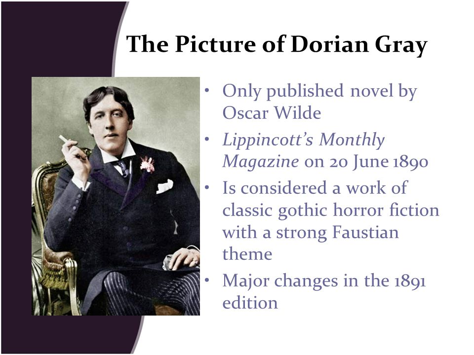 novel project the picture of dorian Most importantly, the yellow book represents the poisonous influence lord henry has on dorian henry gives the book to dorian as a kind of experiment, and it works horrifyingly well: there was a horrible fascination in them all.