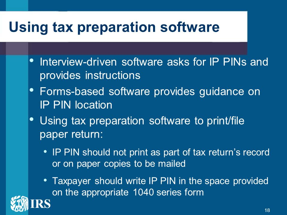 Using tax preparation software