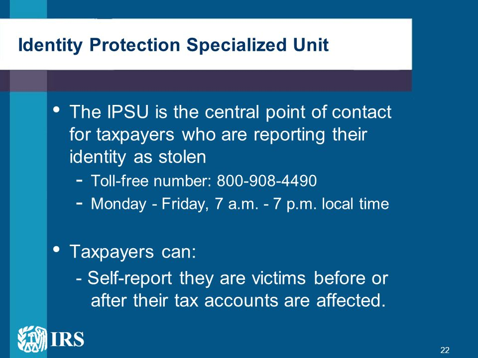 Identity Protection Specialized Unit