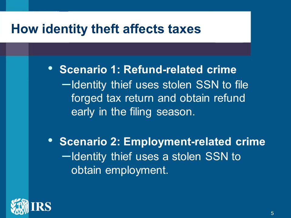 How identity theft affects taxes