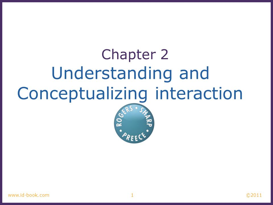 Conceptualizing interaction
