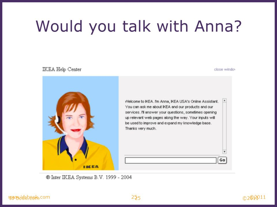 Would you talk with Anna