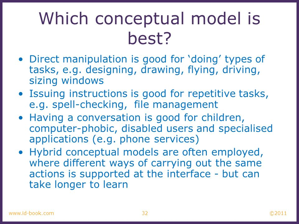 Which conceptual model is best