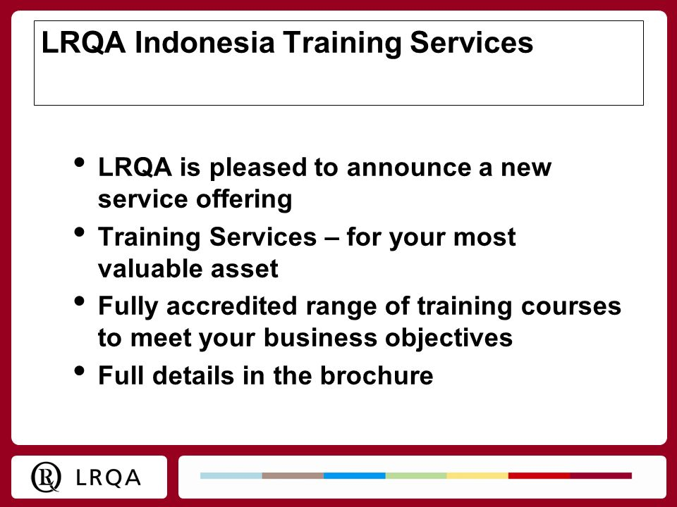 LRQA Indonesia Training Services