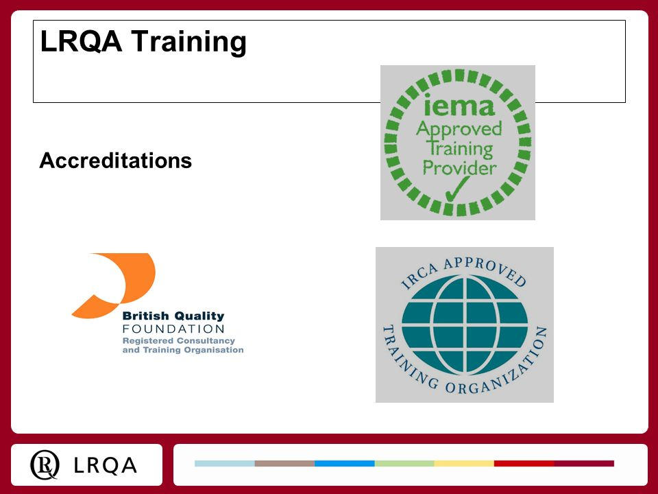 LRQA Training Accreditations