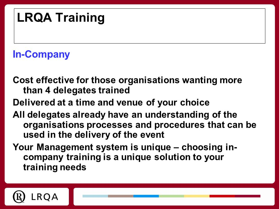 LRQA Training In-Company