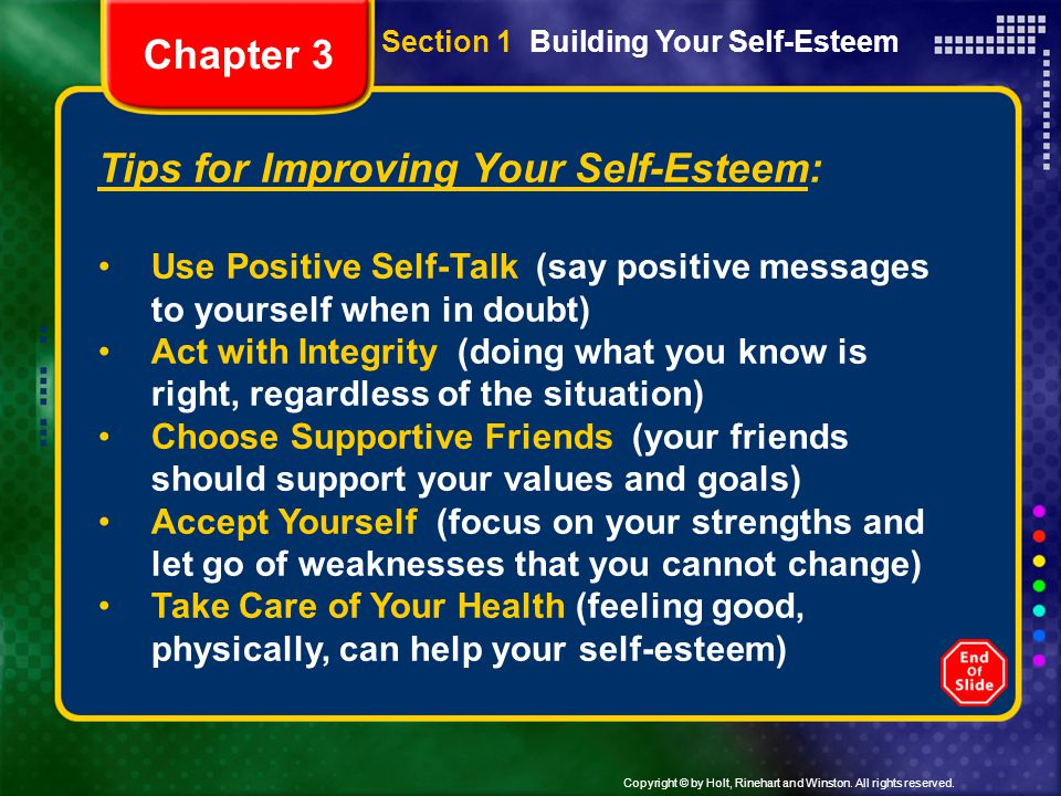 Tips for Improving Your Self-Esteem: