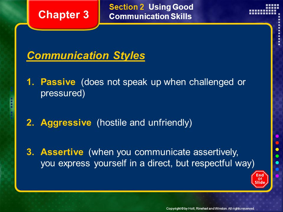 Chapter 3 Communication Styles
