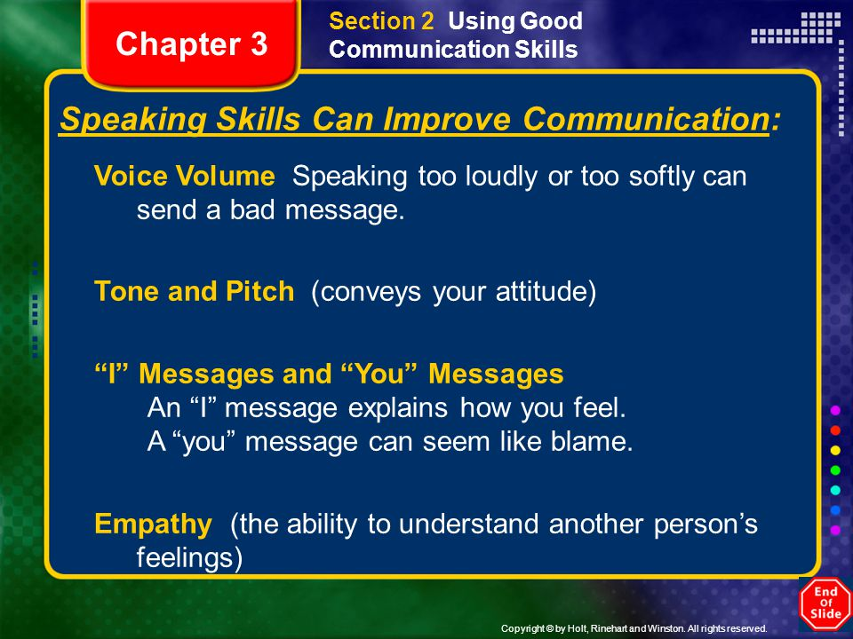 Speaking Skills Can Improve Communication: