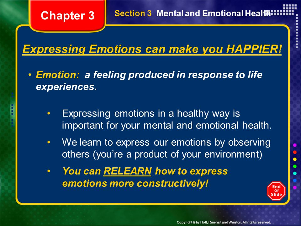 Expressing Emotions can make you HAPPIER!