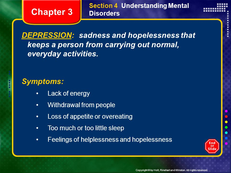 Section 4 Understanding Mental Disorders