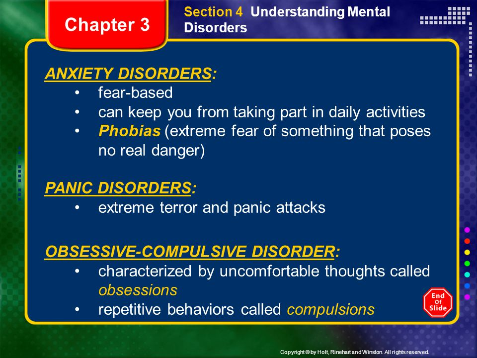 Chapter 3 ANXIETY DISORDERS: fear-based