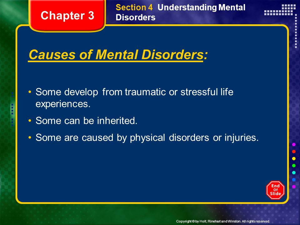 Causes of Mental Disorders: