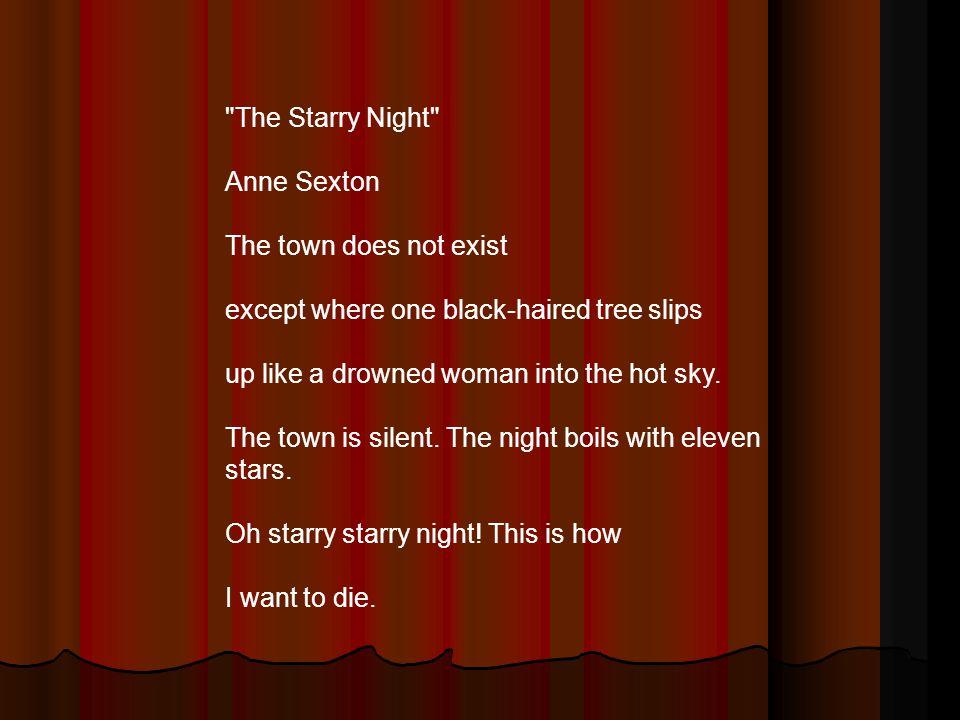 the starry night analysis anne sexton