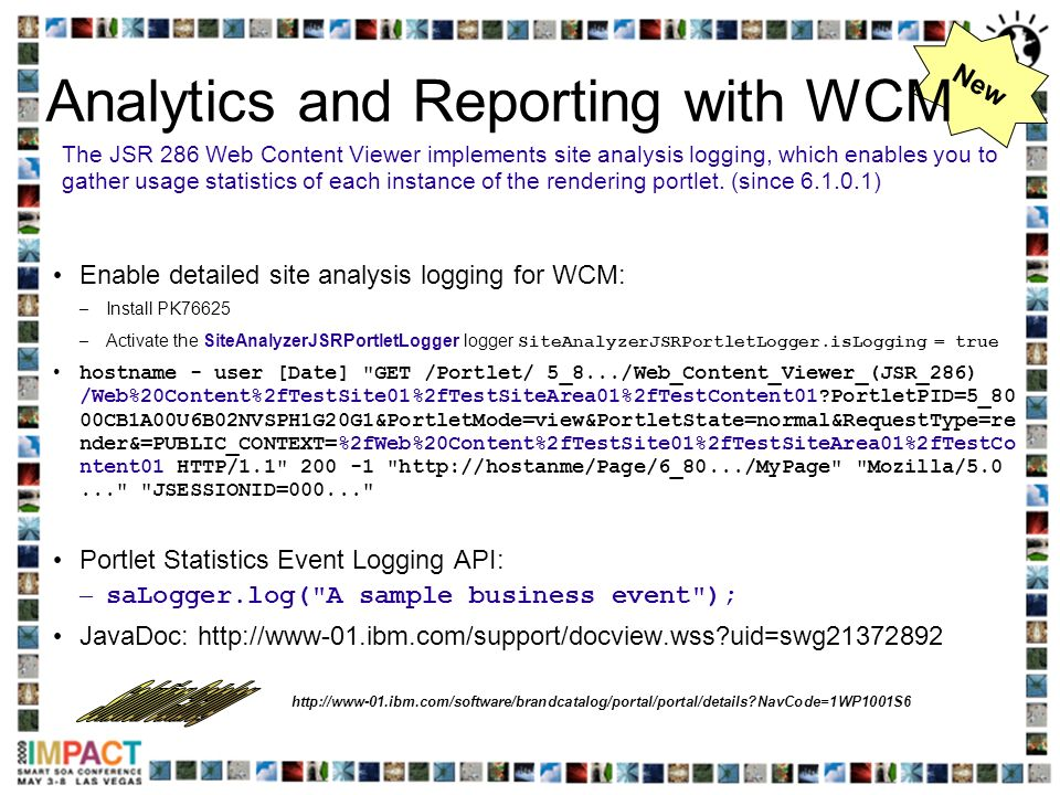 Analytics and Reporting with WCM