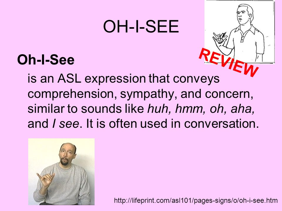 OH-I-SEE REVIEW Oh-I-See