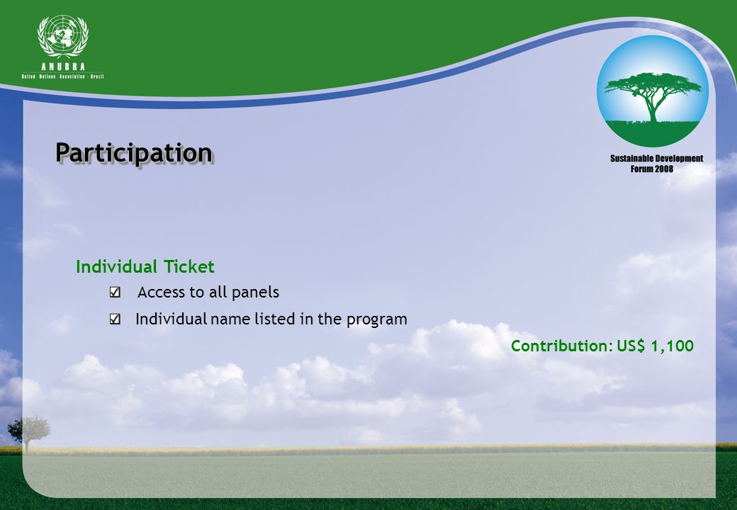 Participation Individual Ticket Access to all panels