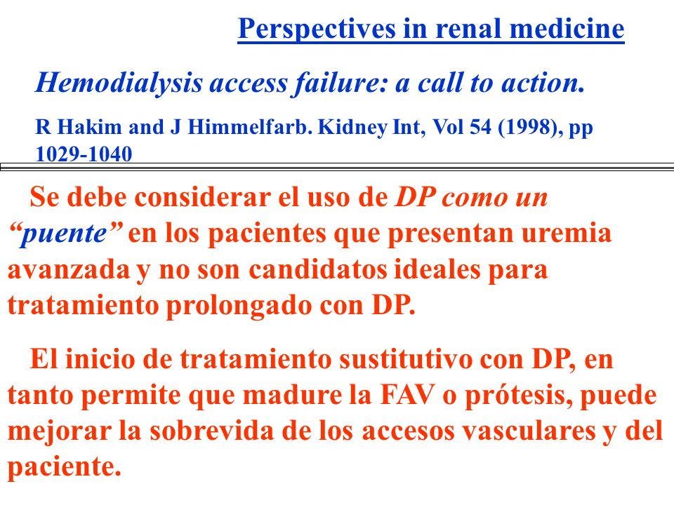 Perspectives in renal medicine