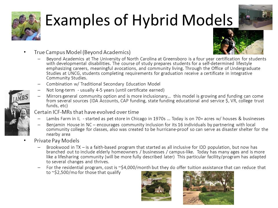 Examples of Hybrid Models