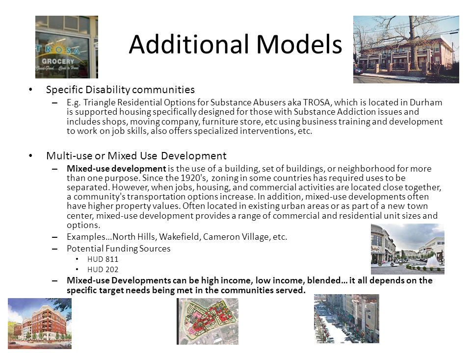 Additional Models Specific Disability communities