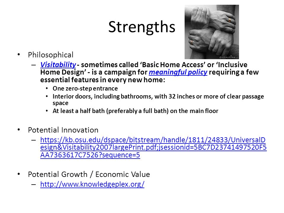 Strengths Philosophical Potential Innovation