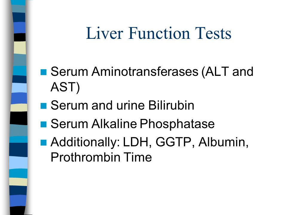 Liver Function Tests Serum Aminotransferases (ALT and AST)