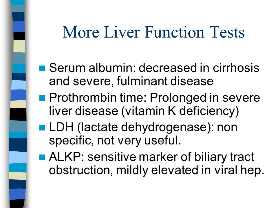 More Liver Function Tests