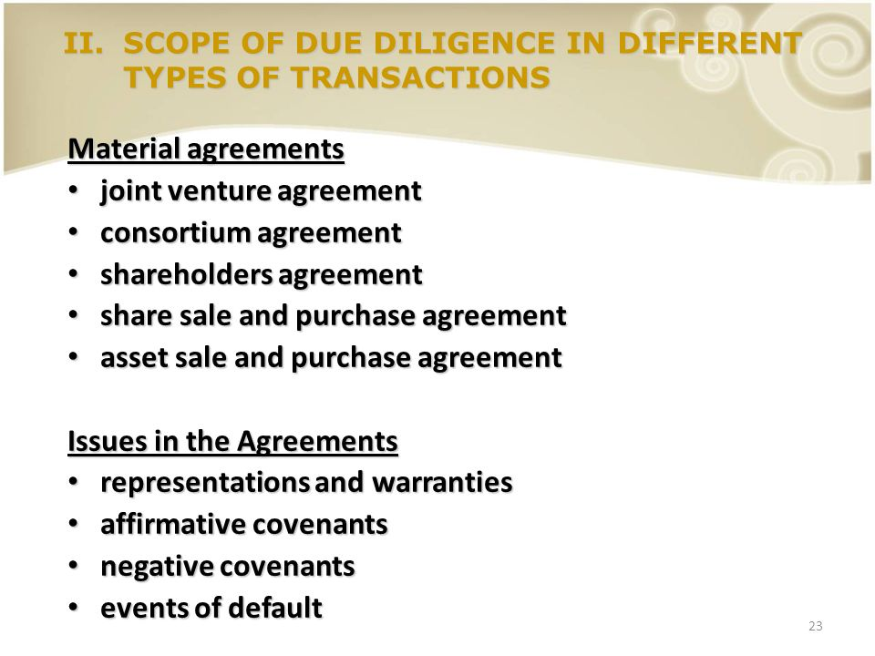 Legal Due Diligence In Jvs And Mas Ppt Video Online Download