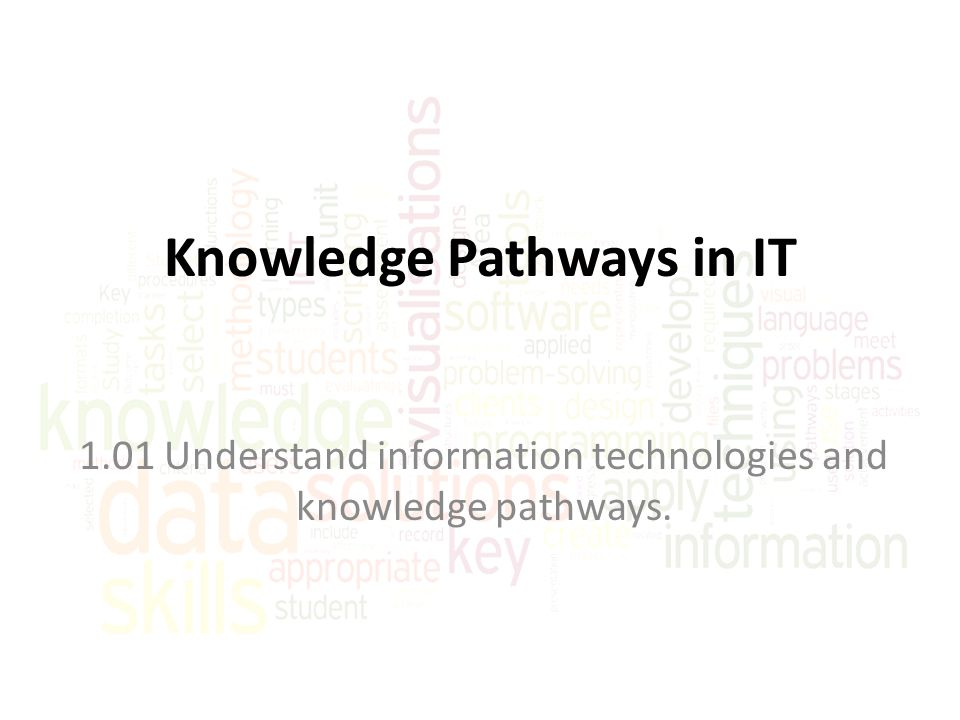 Knowledge Pathways in IT