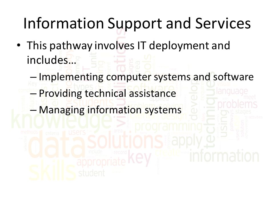 Information Support and Services