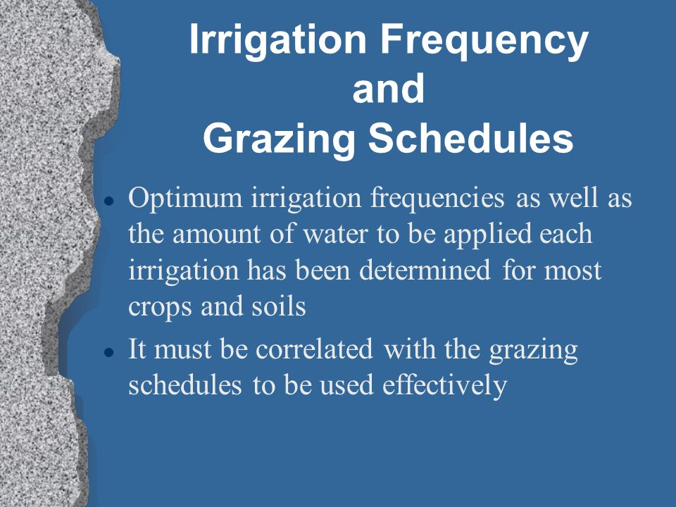 Irrigation Frequency and Grazing Schedules
