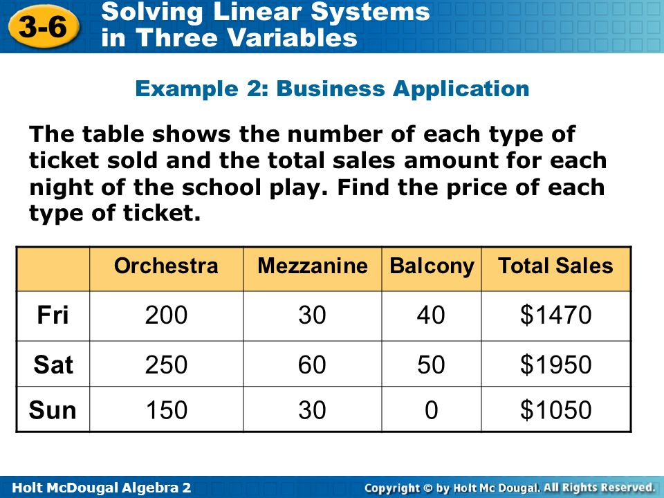 Example 2: Business Application