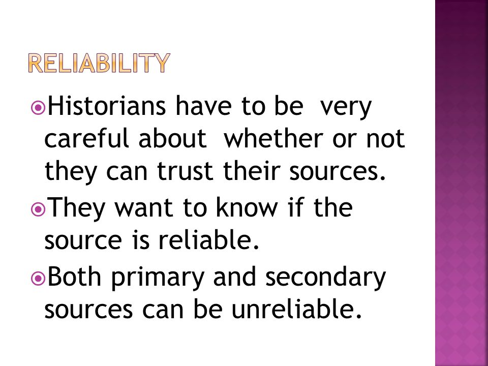 how do you know if a source is reliable