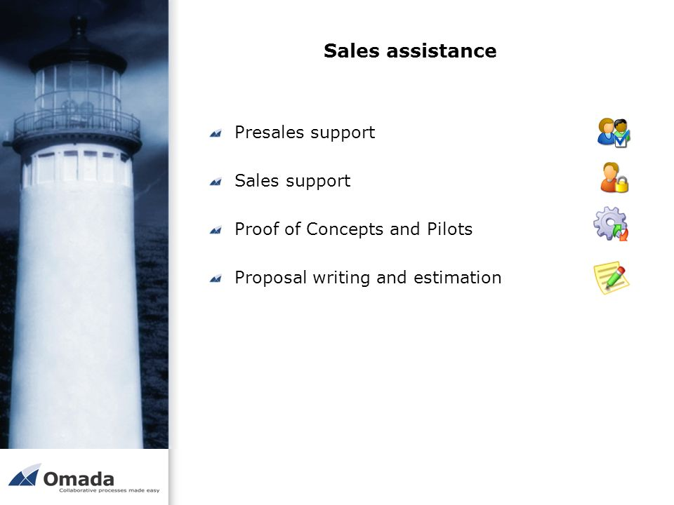 Sales assistance Presales support Sales support