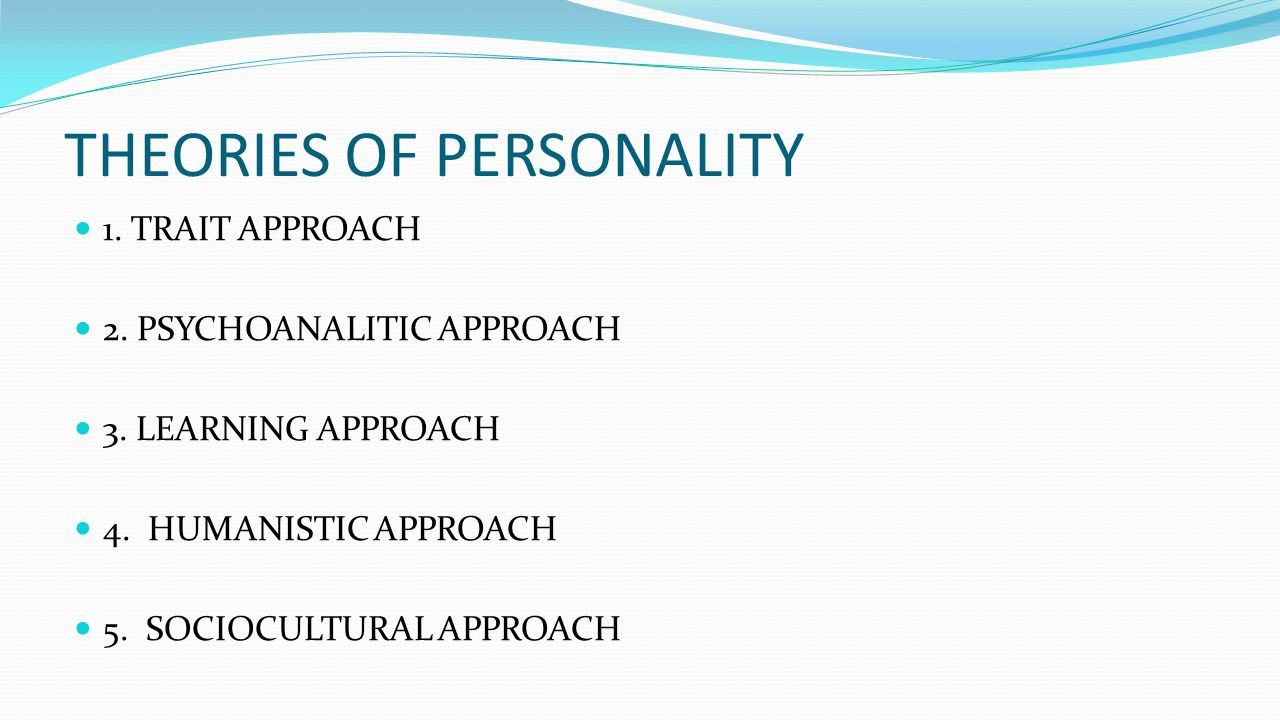 learning approach to personality