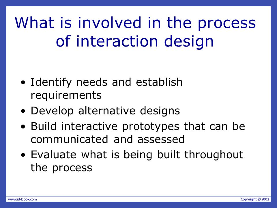 What is involved in the process of interaction design