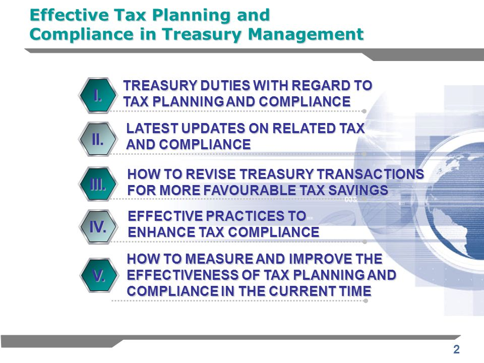 Effective Tax Planning and Compliance in Treasury Management